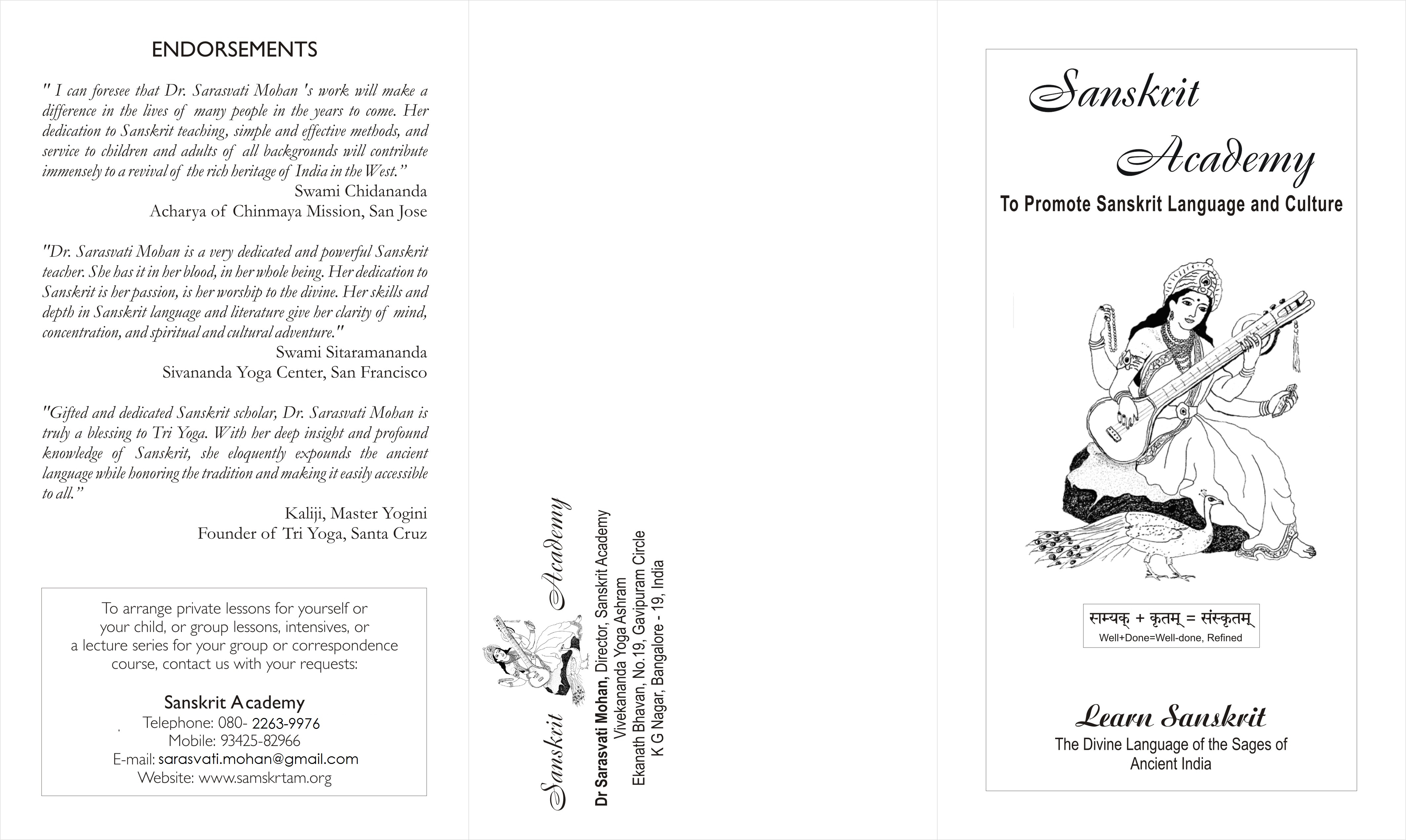 Frontside of the Brochure