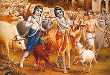 Krishna with Beautiful Cowherds