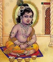 Krishna with Beautiful Food