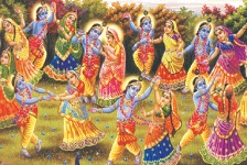 Krishna with Beautiful Gopis